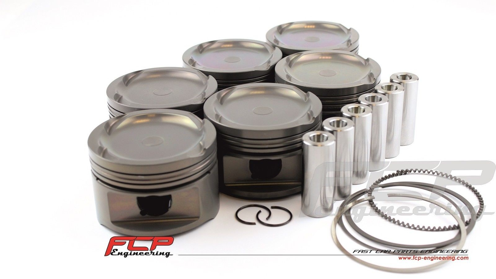 BMW 2.5 M50B25 M52B25 TURBO FCP Forged pistons 84.50mm CR 8.5
