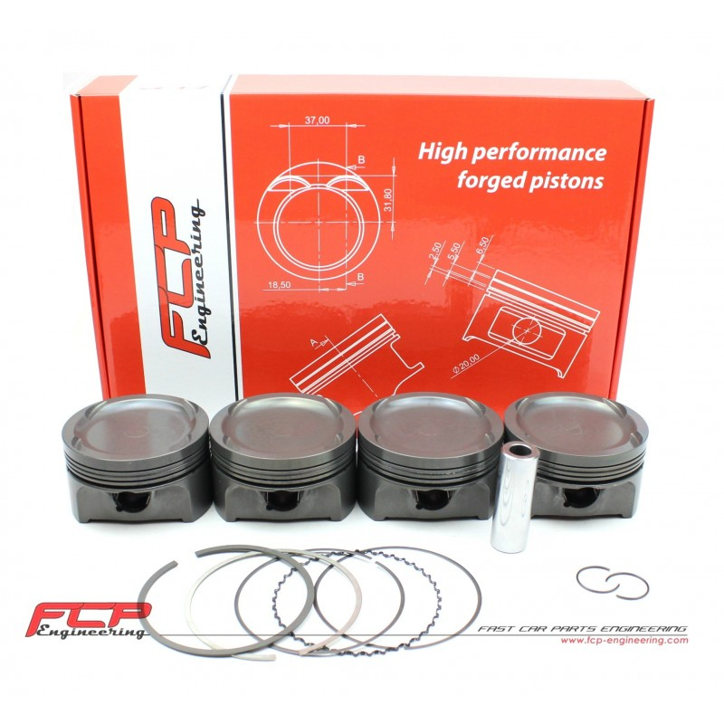 Opel 2 0 16V Turbo C20LET C20XE FCP forged pistons CR 8 5 86 5mm
