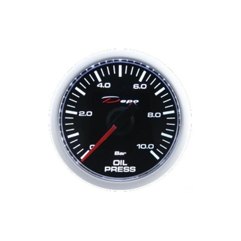Depo Digital 52mm oil pressure gauge 0~10 bar black dial & transparent lens