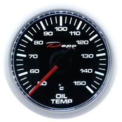 Depo skaitmeninis 52mm variklio tepalo temperatūros daviklis juoda skalė ir permatomas stiklas