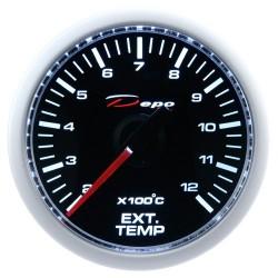 Depo racing skaitmeninis 52mm išmetimo temperatūros daviklis juoda skalė ir permatomas stiklas
