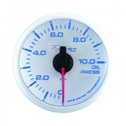 Depo Racing Digital 52mm oil pressure gauge 0~10 bar transparent lens