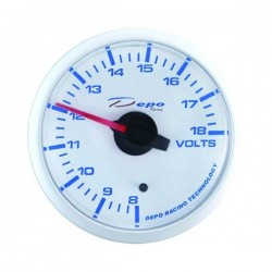 Depo Racing Digital 52mm battery voltage gauge transparent lens