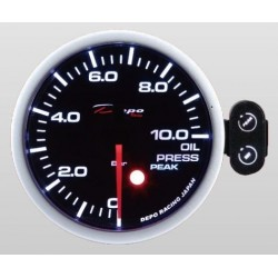 Depo Racing Digital 52mm oil pressure gauge 0~10 bar smoked lens