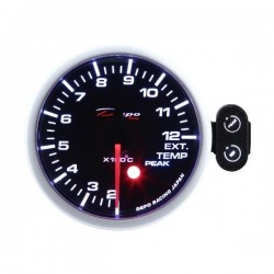 Depo Racing Digital 52mm exhaust temperature gauge smoked lens