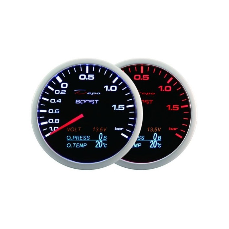 1cea18442aea Depo Racing digital 60mm 4in1 turbo boost gauge 2bar WA60014B