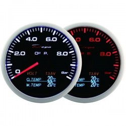 Depo Racing Digital 60mm 4 in 1 gauge oil pressure, oil temperature, water temperature, voltage