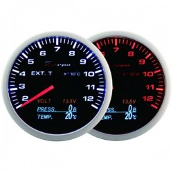 Depo Racing Digital 60mm 4 in 1 gauge EGT, oil temperature, oil pressure, voltage