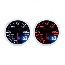 Depo Racing Digital + Analog -1~2bar turbo boost gauge, smoked lens