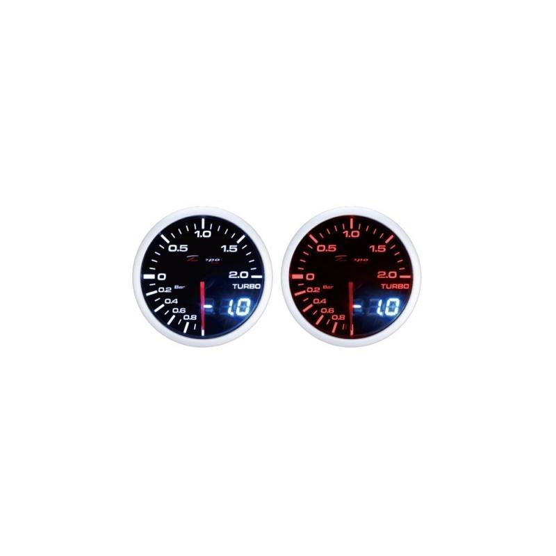 Depo Racing Skaitmeninis + Analoginis -1~2bar turbinos slėgio daviklis, užtamsintas stiklas.