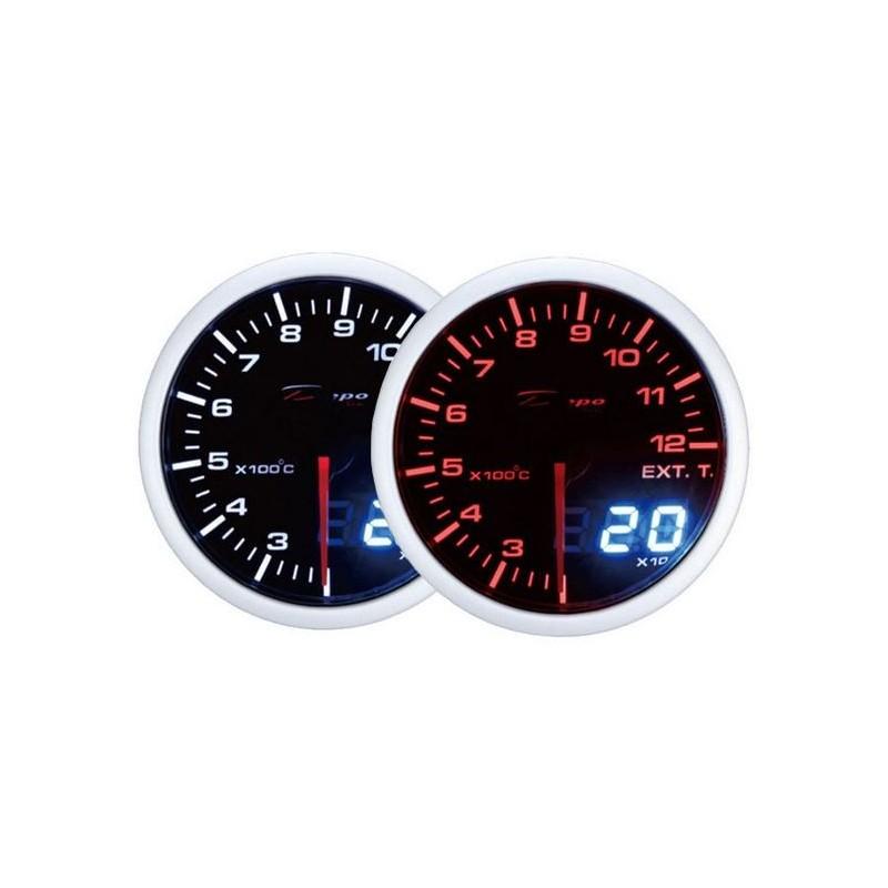 Depo Racing Digital + analog  abgastemperatur, getöntem linse