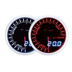 Depo Racing Digital + Analog wideband gauge, smoked lens